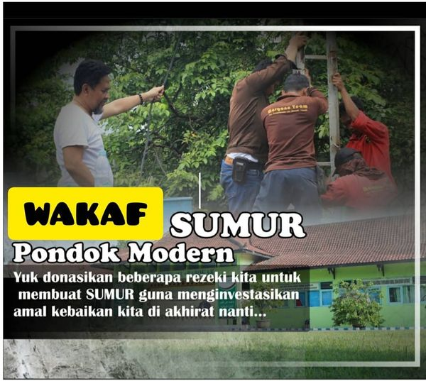 Wakaf Sumur Bor Pondok Modern Al-Barokah Nganjuk